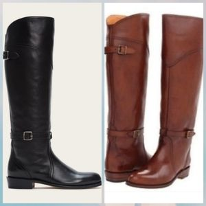 Frye Dorado Leather Riding 2 pairs Boots